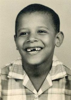 Young Barack Obama (age 6). I love childhood pictures of famous people brings them down to earth...