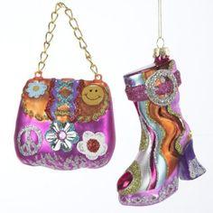 GLASS HIPPIE BOOT & BAG ORNAMENTS 2/ASSTD. by Kurt Adler, http://www.amazon.com/dp/B005LKJTOC/ref=cm_sw_r_pi_dp_Pj2prb1CQG185