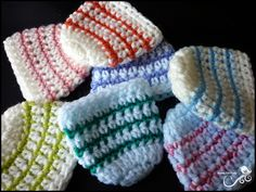 Bright Stripes Beanie (for Preemies)