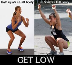We don't usually bash on other fitness companies, but we're pretty annoyed with womens health mags putting out shoddy fitness information. A squat should always be at or below parallel. Don't follow those silly pictures of women barely bending their knees, it's a huge waste of time. Get low or get out.