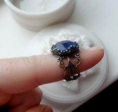 Blue antique ring. I love this!