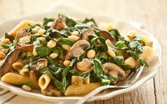 Greens, Mushroom, and White Bean Ragout via Whole Foods