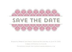 Save the Date Card - Art Deco Scales