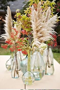 Branch and Varied Vase tablescapes