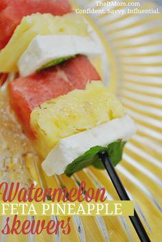 Watermelon Feta Pineapple Skewers