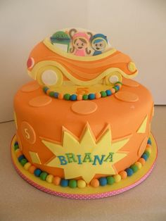 Team Umizoomi cake. Her cakes are amazing (and delicious).