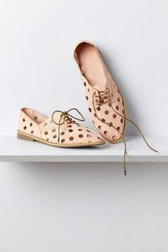 airy polka dotted oxfords