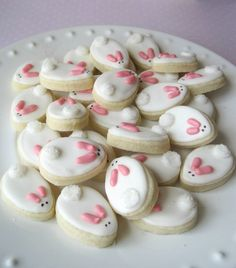 Teeny tiny BUNNIES sugar cookies  6 dozen in by MadeWithButter, $12.50