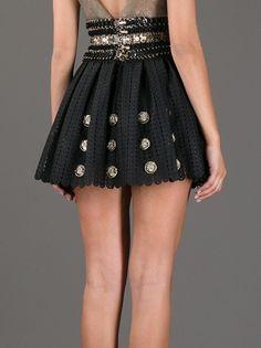 PACO RABANNE - embellished crochet mini skirt