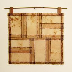 Victoria Gertenbach  Tea Bag Pojagi   Stitched tea bags coated with beeswax.