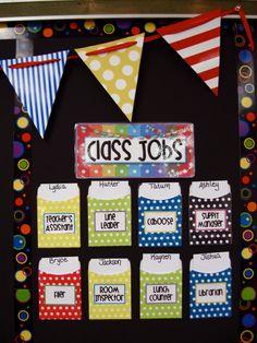 using pockets for classroom jobs--