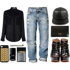 727, wishlist: boyfriend jeans. by goldiloxx on Polyvore