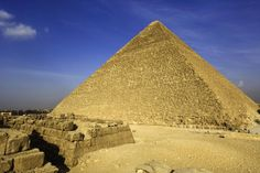 The Great Pyramid, Giza, Egypt.