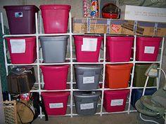 My PVC Storage Organizer!