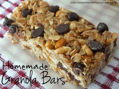 homemad granola, food, blog recip, eat, bar recipes, nobak homemad, snack, homemade granola bar recipe, no bake homemade granola bars