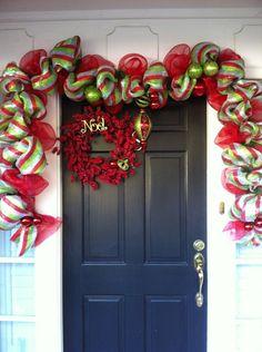 Mesh Garland + Refurbished Wreath