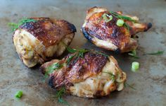 Citrus-marinated chicken.  This chicken is moist and flavorful on the inside and crispy on the outside. It's a family favorite.