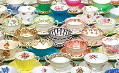 Tea cups & saucers image. Pinned by Keva xo.