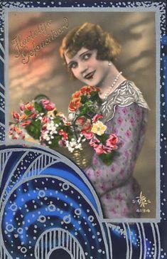 Vintage Image, Deco Postcard Vintage images from art-e-zine.co.uk