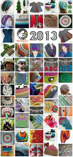 Free #Crochet and #Knit Patterns for 2013 - all on Moogly!
