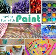 Play with Paint!  A BIG list of different techniques for painting fun for kids.