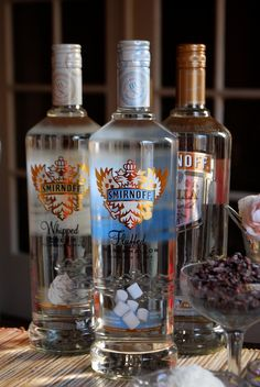 marshmallow, whipped cream, and vanilla flavored vodkas from Smirnoff are a must on the Hot Chocolate Bar! #partycrafters