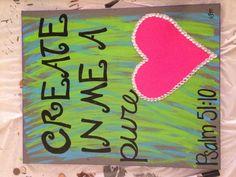 Painted Canvas Bible Verse Teen Girl on Etsy, $25.00- canvas idea: heart