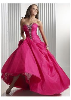 Luxury prom dress in pink color