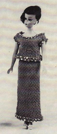 barbie knit rhinestone  vintage free pattern