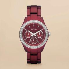 Stella Boyfriend Aluminum Watch - Berry