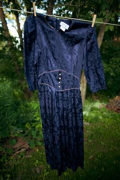"""Vintage Brocade Dress in Dark Moon Receive $5 off any Typographie Vintage order over $10 with coupon code """"CHILL"""""""