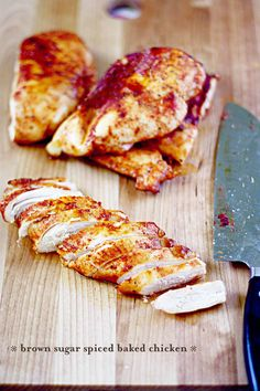 !  Brown Sugar Spiced Baked Chicken