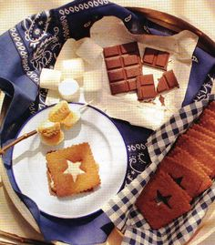 marshmallow recipes, cracker recipes, homemade cookies, star, 4th of july