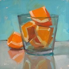Over enthusiastic, by Carol Marine. One-a-day paintings