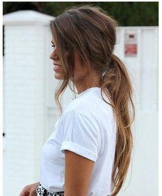 warm colors, hair colors, messi ponytail, color combos, messi hair, messy low ponytail, messi poni, brown hair, low poni