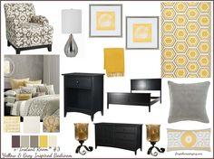 grey interiors, grey bedrooms, bedroom idea, home staging, new bedroom, yellow bedroom, master bedrooms, grey room, gray