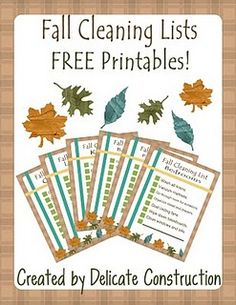 Fall Cleaning Lists {free printables}