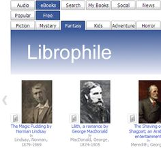 Librophile.com (beta) offers a simple interface for finding audio books and eBooks. You can browse the latest books, search by keywords or choose more broadly by genre. You can often listen to chapters online, download a whole book, play a sample or subscribe using iTunes. Librophile is a free service. By using free open source tools such as jQuery and jQuery.TOOLS, Librophile can provide a cost effect service based on the advertising model.