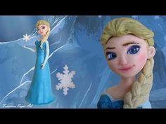 Fondant Disney Elsa Frozen Cake Topper - Elsa in Pasta di Zucchero per una torta - YouTube