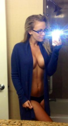 Sexy selfie, blonde, great tits, open robe, epic boobs.