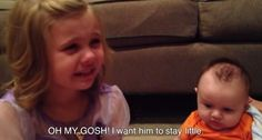 This Little Girl Doesn't Want Her Brother To Grow Up (Video) #Cute #Video