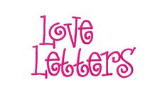 Free Monogram Letters | Free Embroidery Font Set Love Letters