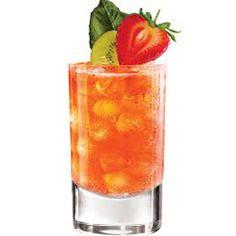 """Zona Rosa"" - Milagro Silver Tequila, agave nectar, lime juice, strawberries, kiwis."