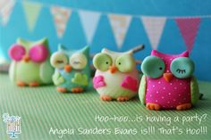 Super cute Fondant owls