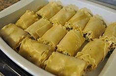 Chicken Lasagna Roll Ups