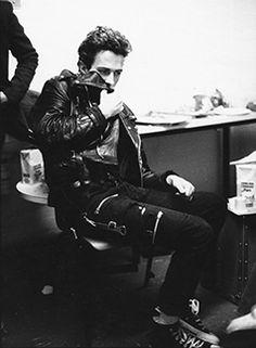 Joe Strummer, late 1970s. Photograph © Pennie Smith #punkfashion