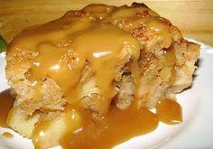 Caramel Apple Bread Pudding w/ Rum Sauce the bread, crunch, rum sauc, vanilla extract, appl bread, apple bread, bread puddings, treat, caramel apples