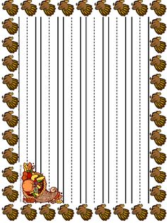 Turkey Handwriting Paper - - pinned by @PediaStaff – Please Visit http://ht.ly/63sNt for all our pediatric therapy pins