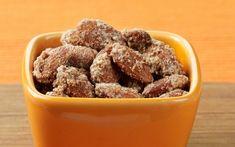 Cinnamon Glazed Almonds #almonds #CrunchOn #SuperBowl #snacks