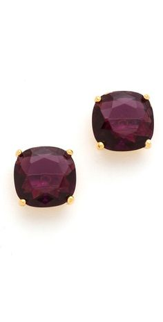 bling, squar stud, cloth, color, stud earrings, celebrity engagement rings, accessories, kate spade, burgundy